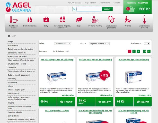 Agel eshop volně prodejné léky