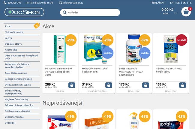 DocSimon internetová lékárna