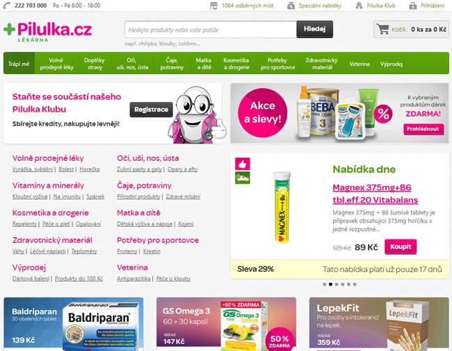 E-shop Pilulka.cz
