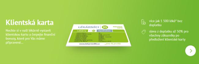 Klientská karta Lékárnici 95