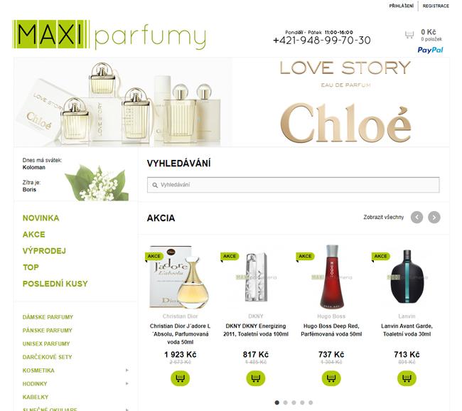 Maxi Parfumy eshop