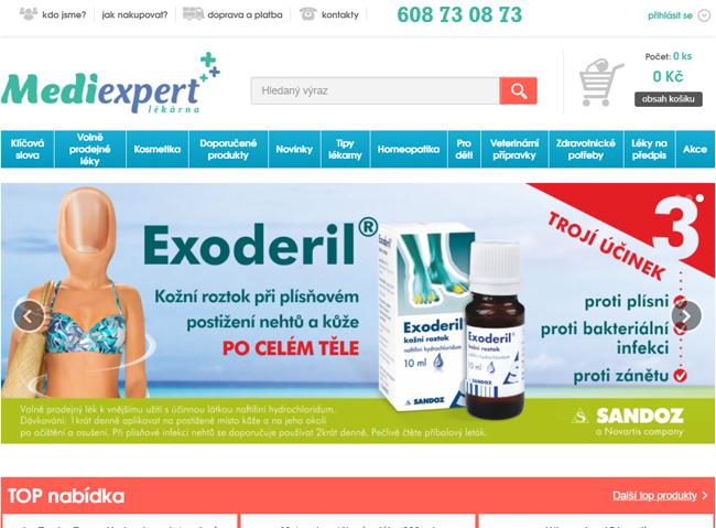 Online lékárna Mediexpert