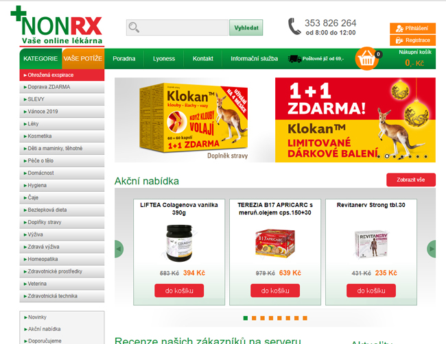 NonRx lékárna eshop