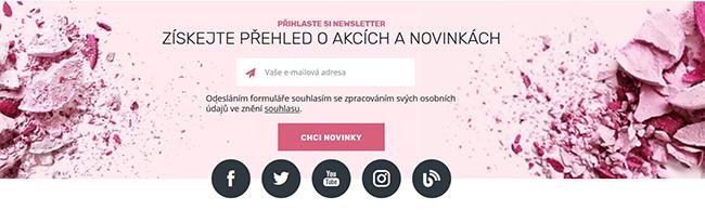 Parfémy Elnino newsletter
