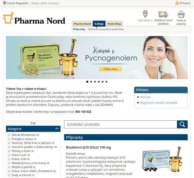 Pharma Nord eshop