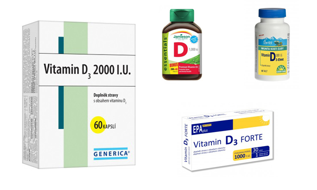 Vitamín D v tabletách