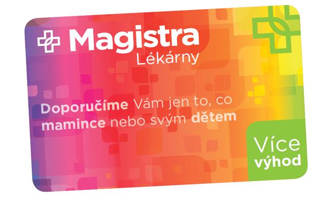 Karta Více výhod v lékárnách Magistra