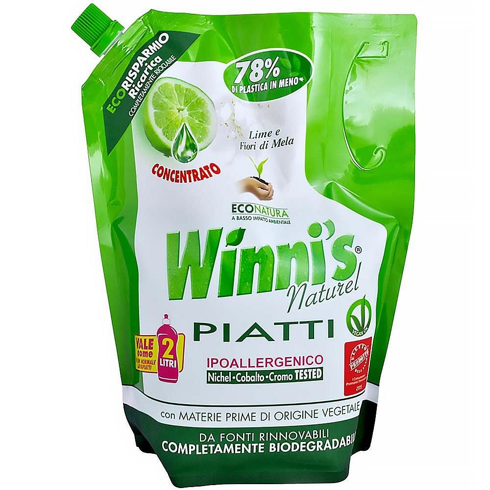 WINNI´S Piatti Lime Ecoricarica – hypoalergenní mycí prostředek na nádobí 1000 ml