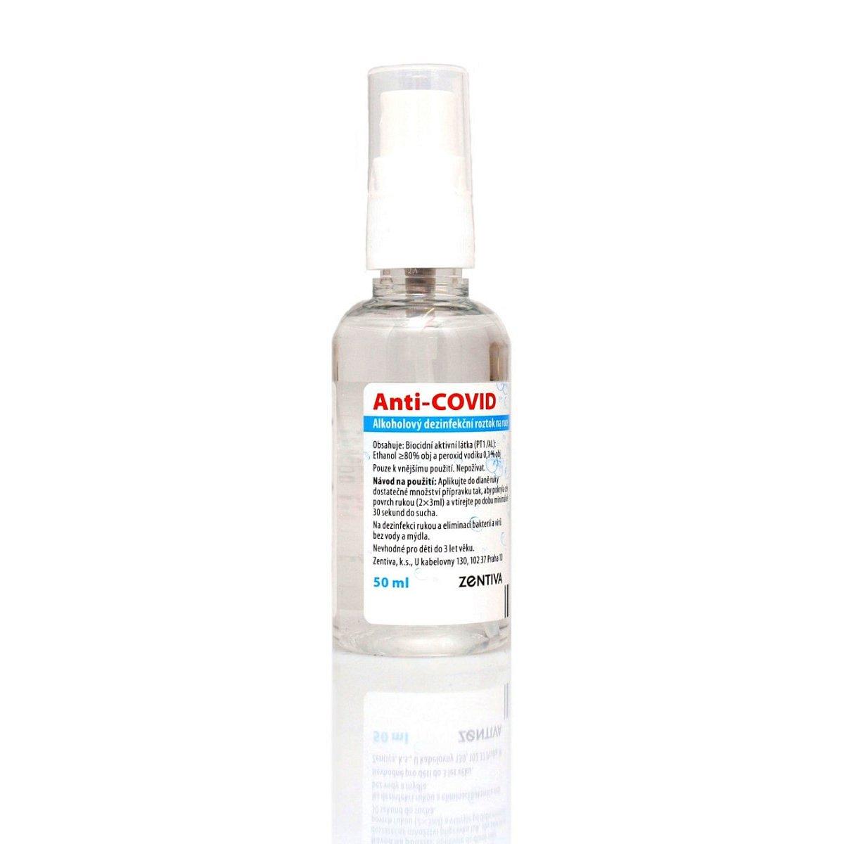Anti-COVID Alkoholový dezinfekční roztok na ruce 50 ml