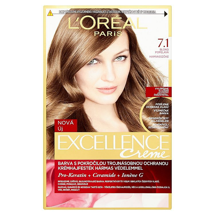 L'Oréal Paris Excellence Creme blond popelavá 7.1