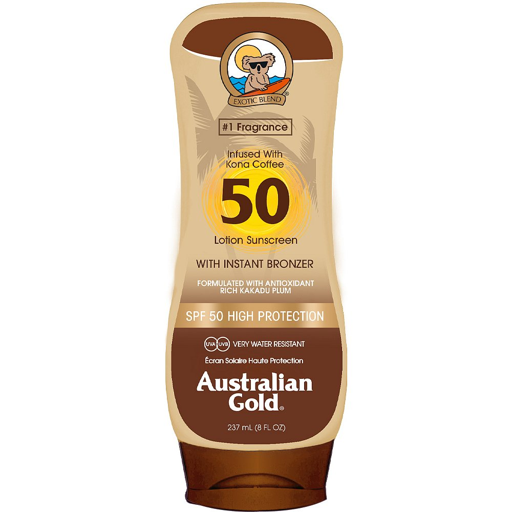 Australian Gold Lotion + Bronzer SPF50 237ml