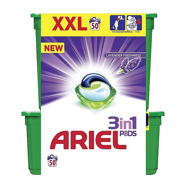 Ariel  3v1 Lavender Freshness gelové kapsle 50 ks