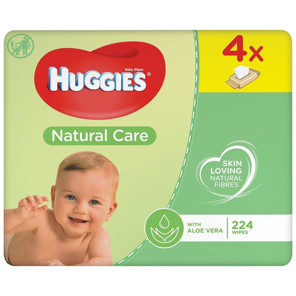 HUGGIES Natural Care Quatro 56x4ks - II.jakost