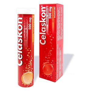 Celaskon 500 mg Červený pomer.perorální tablety šumivé 20 x 500 mg