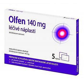 Olfen léčivé náplasti 140mg 5 ks