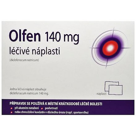 Olfen léčivé náplasti 140mg 10 ks