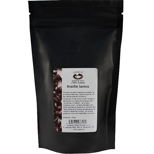 Oxalis Brazílie Santos - zrnková káva 150g