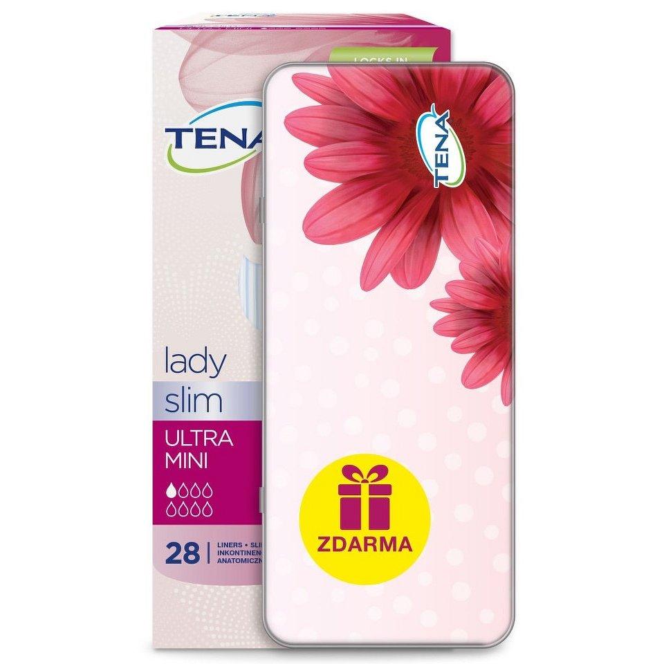 TENA Lady Slim Ultra Mini 28 ks + dárek cestovní krabička - II.jakost