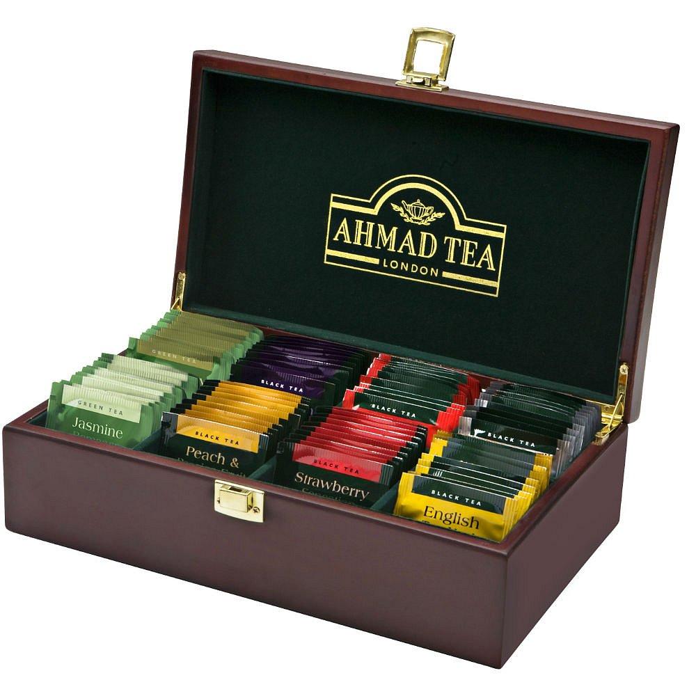 AHMAD TEA Dřevěná kazeta Tea Keeper 80x2g