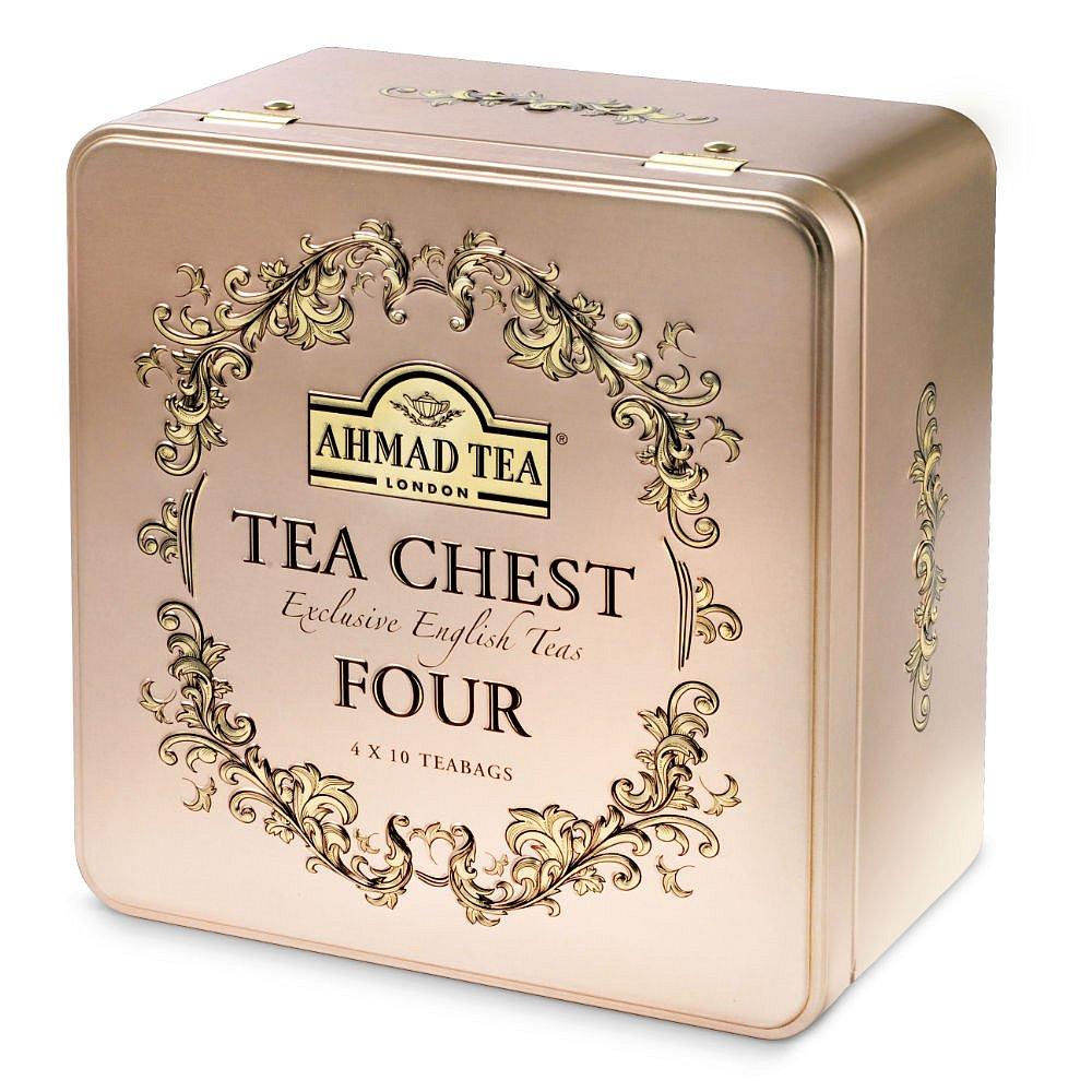 AHMAD TEA Tea Chest Four 40x2g v luxusní plechové kazetě