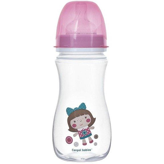 CANPOL BABIES Láhev TOYS 300 ml 0% BPA - růžová