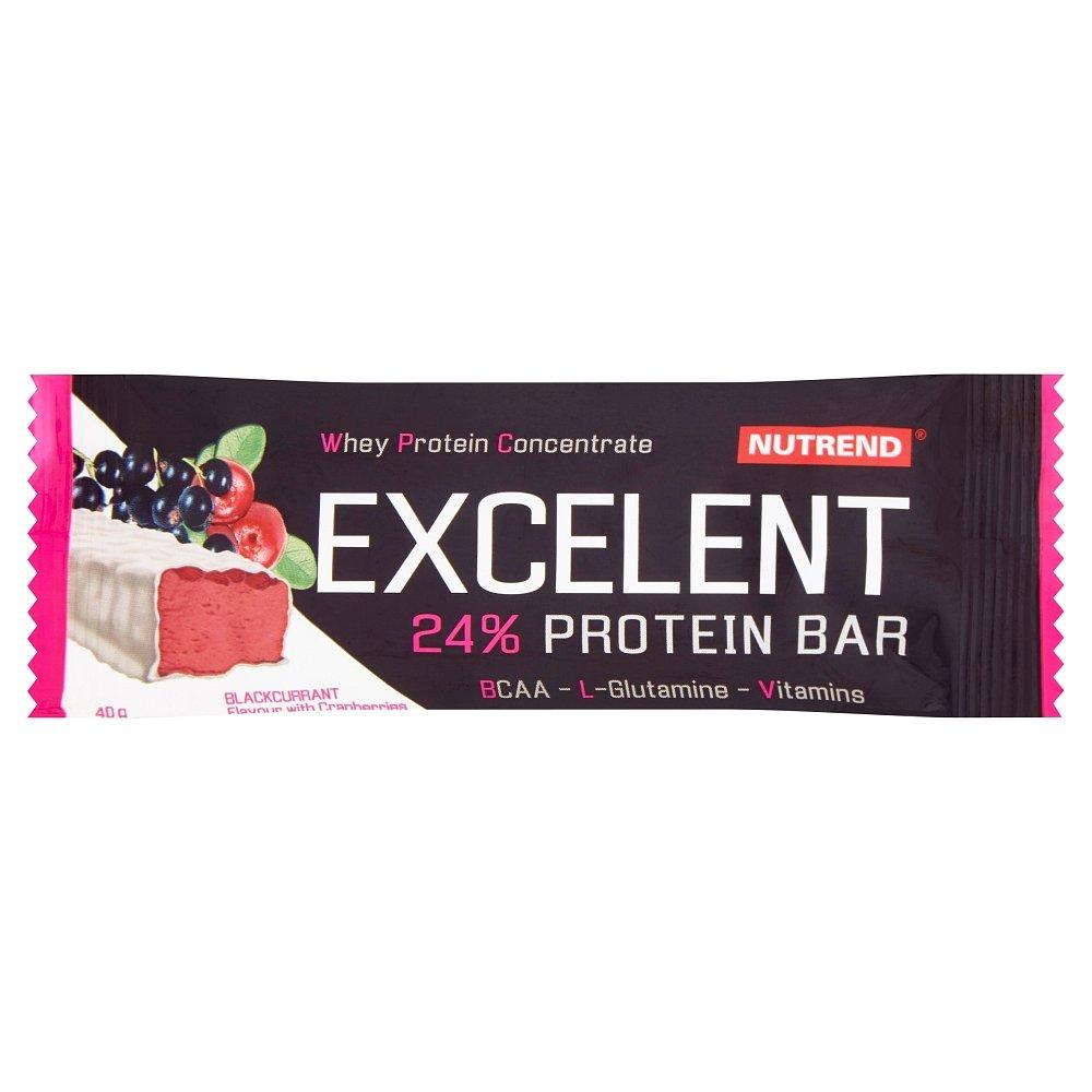 NUTREND Excelent protein bar černý rybíz s brusinkami 40 g