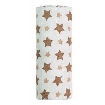 BIO Bambusová osuška, béžové hvězdičky 90x100 cm