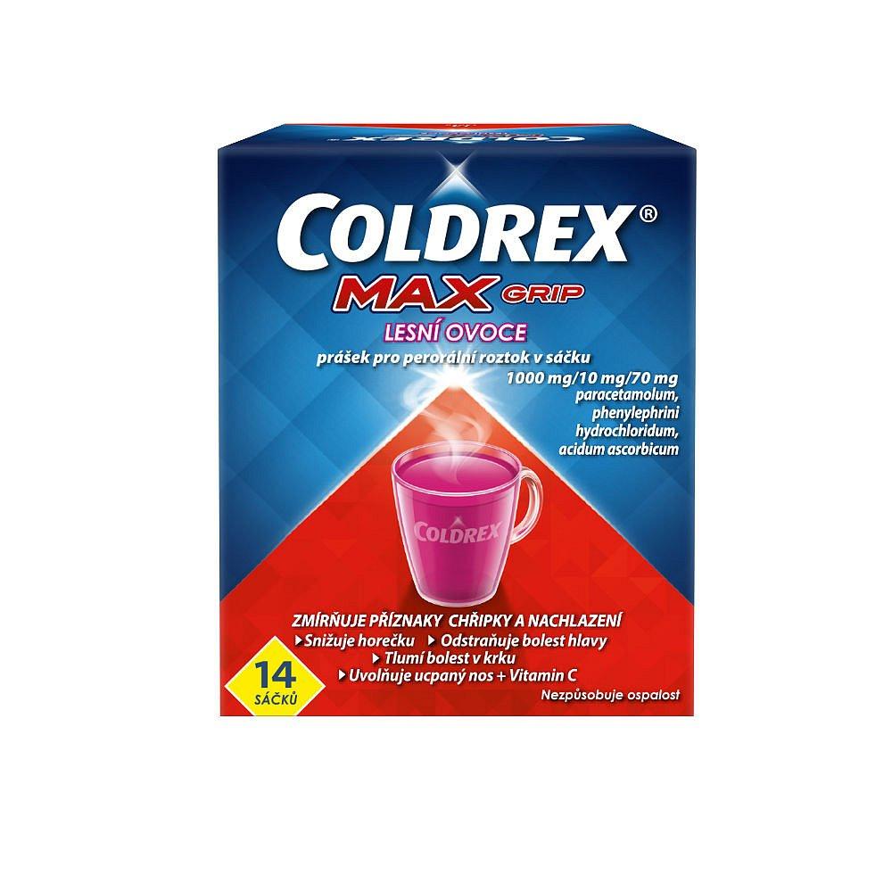 Coldrex MAXGrip horký nápoj lesní ovoce 14 ks