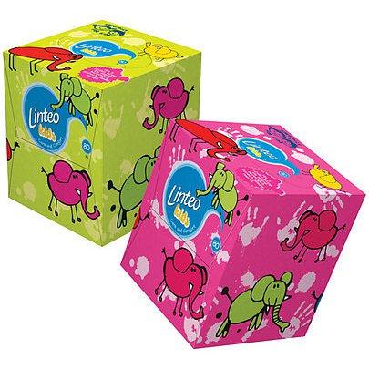 Linteo Kids papírové kapesníčky v krabičce 2-vrstvé 80 ks