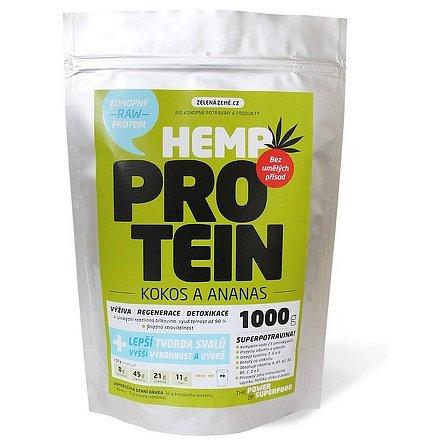 Zelená Země Konopný protein 1kg kokos s ananasem