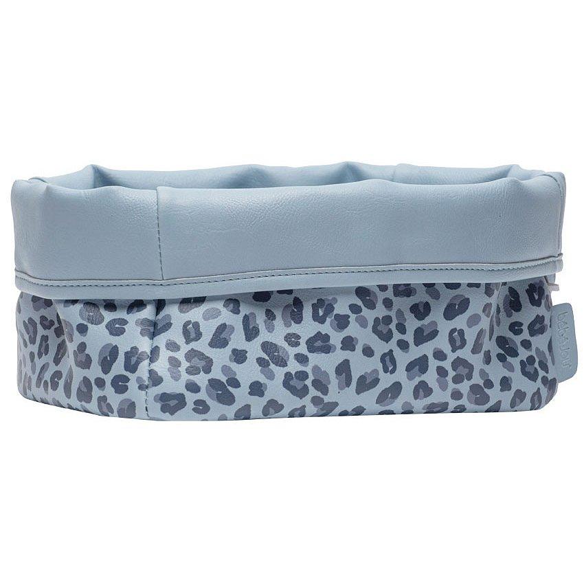Bébé-Jou Textilní košík na kojenecké potřeby Leopard Blue 1ks