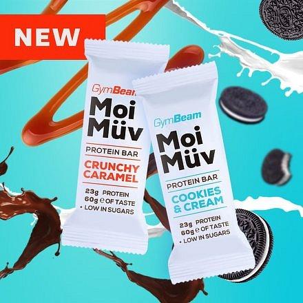 Gymbeam Proteinová tyčinka MoiMüv crunchy caramel 60g
