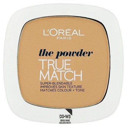 True Match Kompaktní pudr Golden Beige W3 9g