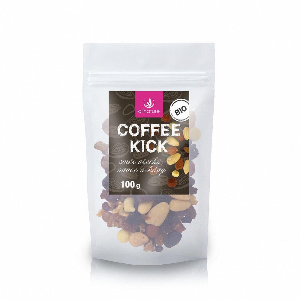 ALLNATURE Coffee kick - směs ořechů, ovoce a kávy BIO 100 g
