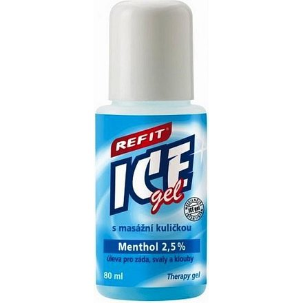 Refit Ice gel roll-on Menthol 2.5% na záda 80ml