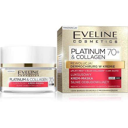Platinum & Collagen - Intenzivně obnovující denní a noční krém-maska 70+