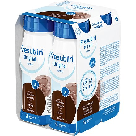 Fresubin original s čokol.příchutí perorální roztok 4 x 200 ml