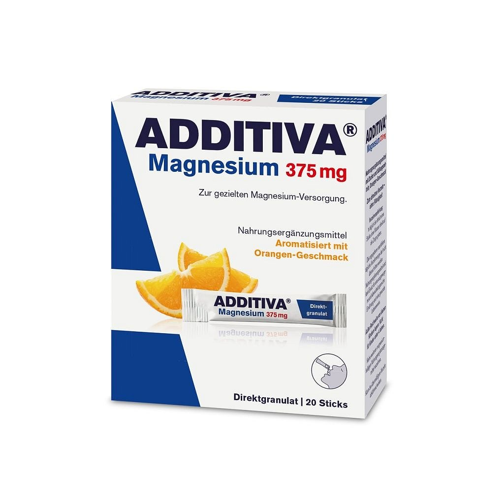 Additiva Magnesium Direct 375 mg pomeranč 20 sáčků