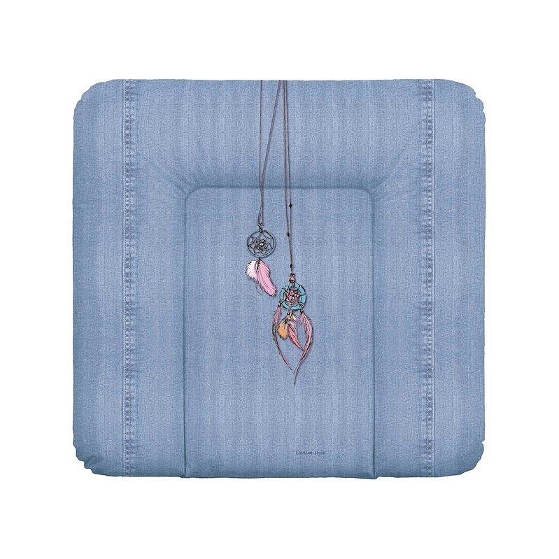CEBA Podložka přebalovací na komodu měkká 75x72 Denim Style Dream Catcher blue Ceba