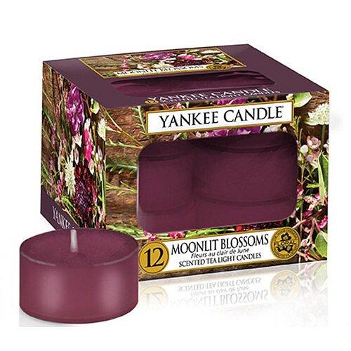 Yankee Candle Aromatické čajové svíčky Moonlit Blossoms  12 x 9,8 g
