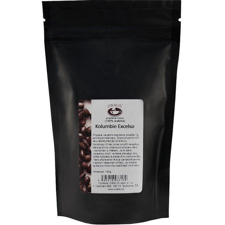 Oxalis Kolumbie Excelso zrnková káva 150g