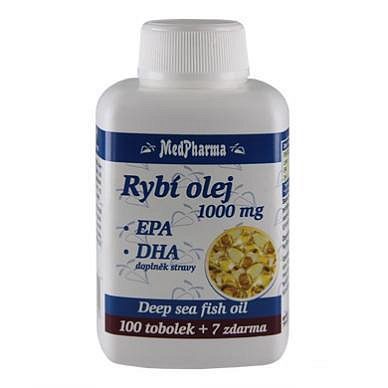 MedPharma Rybí olej 1000 mg+EPA+DHA tobolky 107
