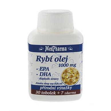 MedPharma Rybí olej 1000 mg+EPA+DHA tobolky 37