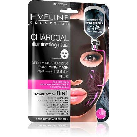 Charcoal - Hydratační pleťová textilní maska s uhlím