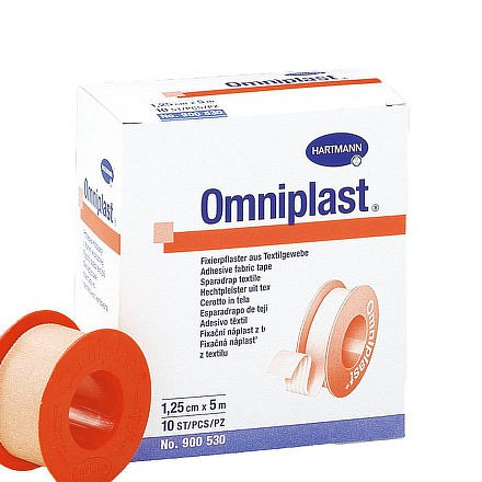 Náplast Omniplast textilní 1.25cmx5m 1ks
