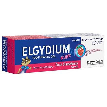 ELGYDIUM KIDS gelová zubní pasta s fluorinolem 2-6 let 50ml jahoda