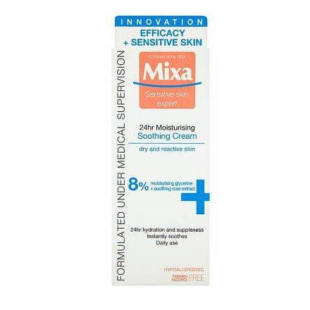 Mixa Sensitive Skin Expert 24 h zklidňující hydratační krém 50ml