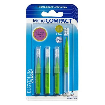 Elgydium Clinic Mono Compact mezizubní kartáčky 8-7mm 4ks