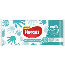 Huggies Single All Over Clean vlhčené ubrousky 56 ks