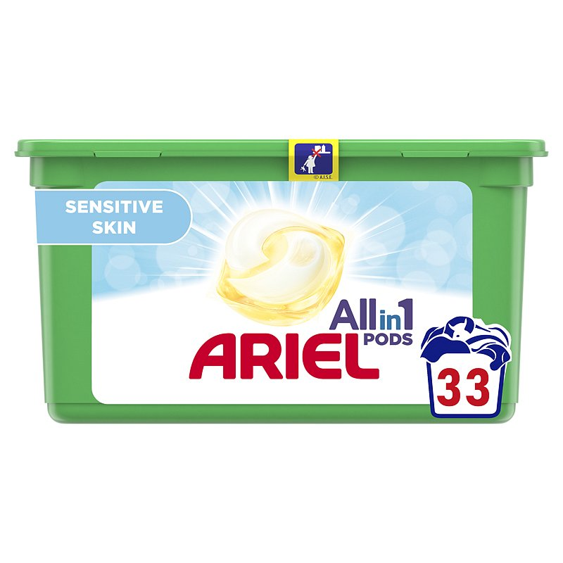 ARIEL Allin1 Pods Sensitive kapsle na praní 33 ks